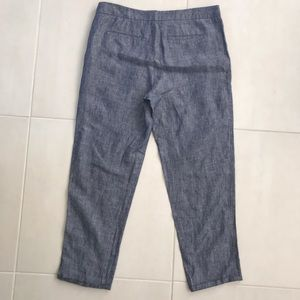 Joie Pants - Joie Chambray Linen Cropped Pants P69